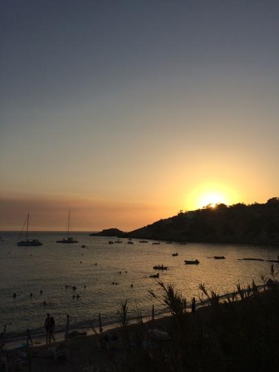 Coucher de soleil à Cala d'Hort