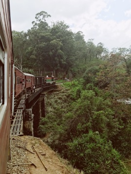Le train vers Nuwara Eliya